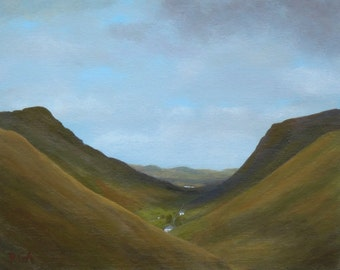 Small painting, landscape, Donegal, Ireland