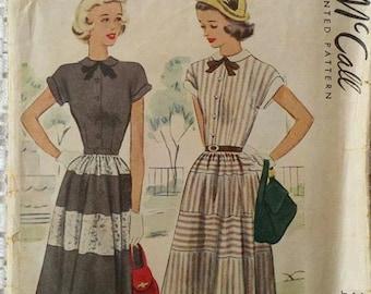 1948 McCall Printed Pattern 7281 Junior Dress Siz 13