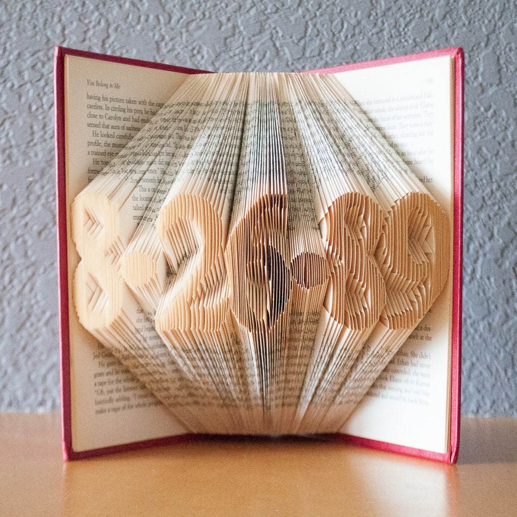 Wedding Gifts For Art Lovers : Personalized Gift for Couples - Folded Book Art- Wedding Gift -Date ...