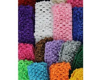Crochet Elastic Headbands, Headband Supplies, Crochet Headband, Baby Headband, Elastic Headbands Bulk, Girl Headbands, Crochet, Headbands