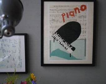 A3 Framed Piano Print