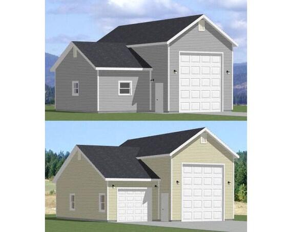 36x48 1 rv garage workspace or 1 car by excellentfloorplans For32x40 Garage Plans