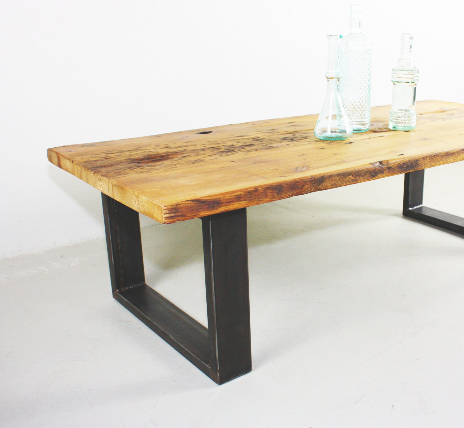 Reclaimed Old Growth Pine Wood Coffee Table With By Wwmake On Etsy