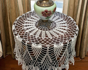 Lacy Crochet: Tablecloth Update: Four Motifs Done