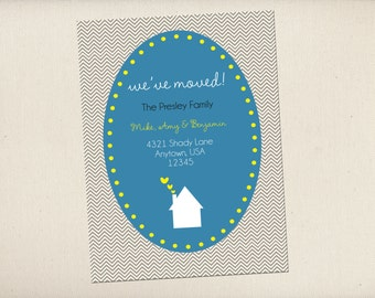 New Address New Home 'We've Moved' Card- DIGITAL FILE ONLY (printing available)