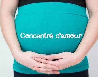 """Belly band maternity / pregnancy headband """"Concentrate of love"""""""