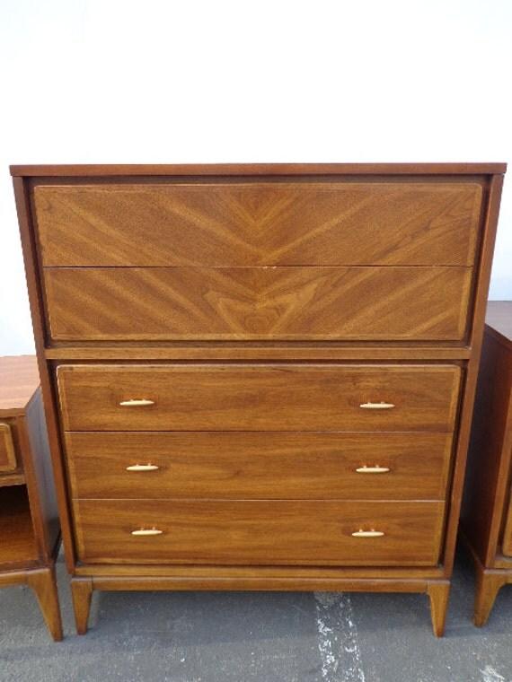 kent coffey simplex 5 drawer mid century modern chest of. Black Bedroom Furniture Sets. Home Design Ideas
