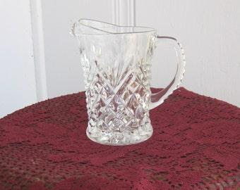 Antique Clear Cut Glass Cream Pitcher