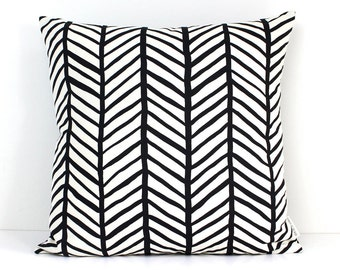 Large Herringbone - Hand screen printed Eco cushions 50cm x 50cm