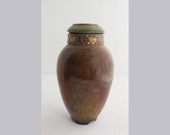 cremation urn in raku