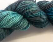 Blue Rocks (Apollo- High twist BFL/Nylon 80/20) blues and greys