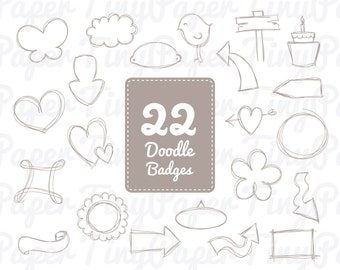 Photo Badges - Digital Clip Art for Personal or Commercial Use CA002