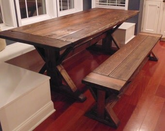 Kent Dining Table  Trestle X  Farmhouse  Reclaimed Wood  Custom  HandcraftedFrederick Dining Table Chevron Trestle Farmhouse Reclaimed. Farmhouse Dining Table Made In Usa. Home Design Ideas