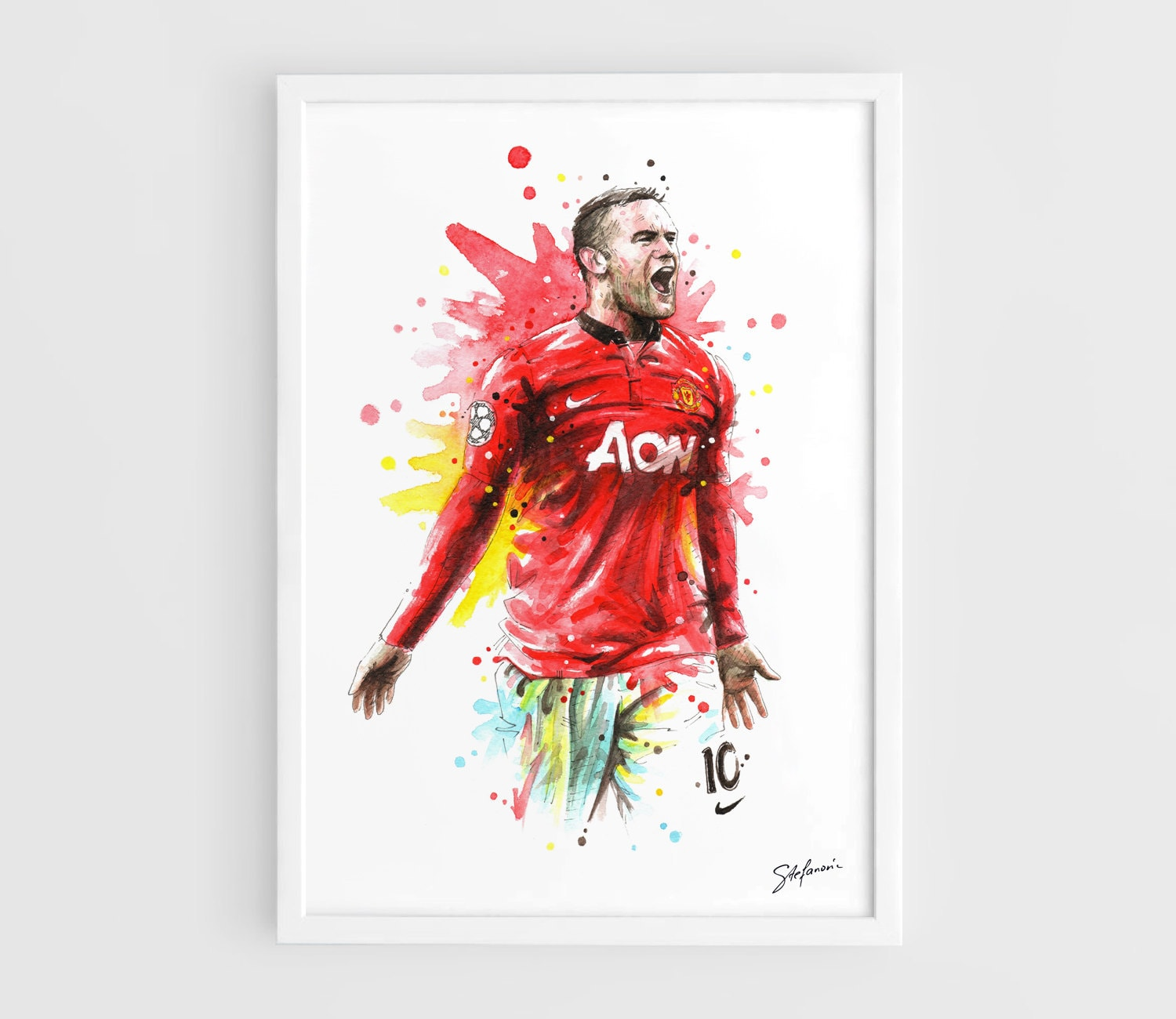 Best Sheets To Stay Cool Wayne Rooney Manchester United A3 Wall Art Print Poster Of