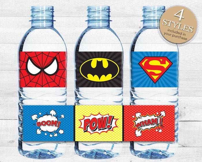Instant Download Superhero Water Bottle