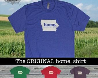 Iowa Home. shirt- Men's/Unisex SOFT red green blue purple