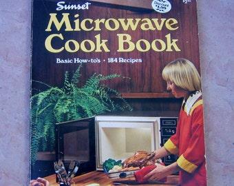 vintage 1976 cookbook, Sunset Microwave Cook Book, Microwave Cook Book, vintage microwave cookbook