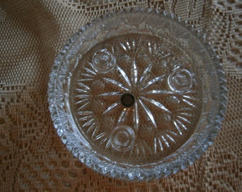 Lead Crystal Candle Holder, Princess House U.S.A. Pattern Glass
