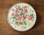Rose Floral Print Vintage Folding Compact Mirror