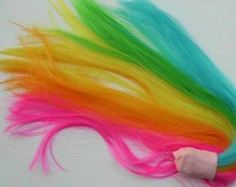 Neon Rainbow Tail  Unicorn Horse My Little Pony Tail Cosplay Costume MLP