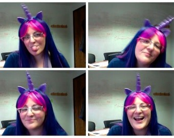 Twilight Sparkle Wig,  MLP Unicorn Purple and Pink Costume My Little Pony , my little pony cosplay