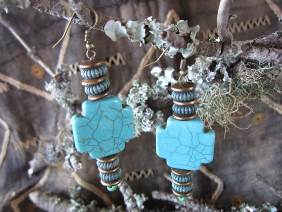 bohemian jewelry, african earrings, turquiose jewelry, tribal jewelry, boho earrings, hippie jewelry, Ethnic jewelry, Semi-precious Stones