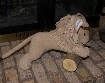 Lion Handmade Fleece Stuffed Animal
