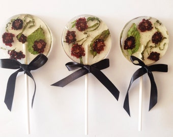 3 Organic Blackberry And Basil Lollipops