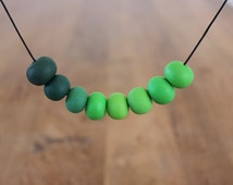 Erica - polymer clay bead necklace