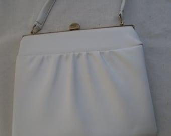 Vintage White Handbag.