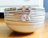 Bridal Earrings; Bridesmaid earrings; Crystal Cubic Zirconia