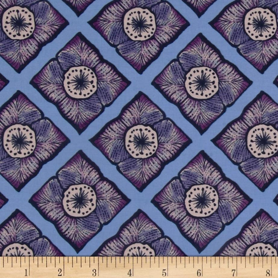 Garage sale cotton quilting fabric periwinkle blue purple for Quilting fabric sale