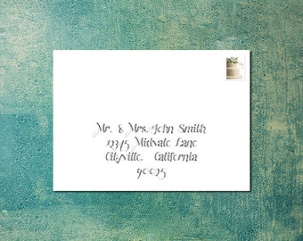 Custom Digital Calligraphy Envelope Addressing