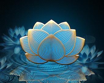 Blue Lotus Pin