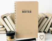 Kraft Notebook 'Field Notes' Small Blank Spiral Bound Journal Diary