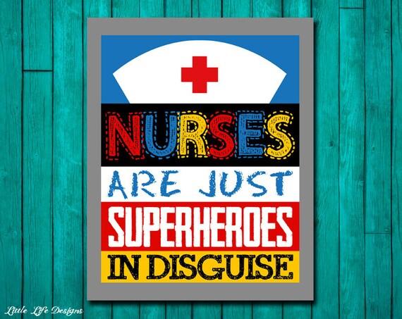 Nurse Gift. Nurses are Superheroes. Nurse Appreciation Gift.