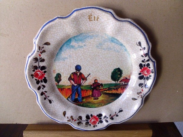 Decorative Wall Plates For Hanging: Decorative Wall Plates Vintage Made In Italy 4 Seasons Plastic