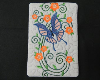 Burst of Spring Butterfly Candle Mat Blue