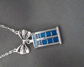"""Dr Who """"Bow Ties are Cool"""" Necklace"""