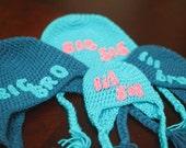 Crochet Pattern - Sweet Siblings Set Earflap Hat Pattern