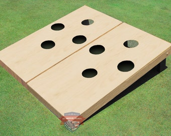 non painted 4 hole cornhole boards with your choice of any color of corn filled bags - Cornhole Sets
