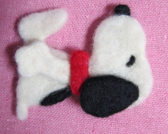 Needle Felted Snoopy Pin