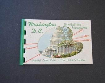 Kodachrome Booklet Kodachrome Reproductions of Washington D.C. Vintage Photos Scrapbooking Postcards