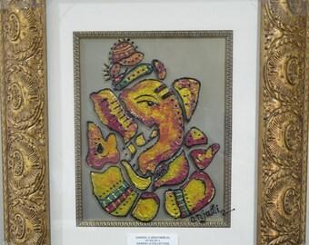 Ganesh ji, Diwali special, Ganpati Bappa, Ganesha Painting, Housewarming Gift, Lord Ganesha, Handmade Painting, Ganesh art, Diwali Gift