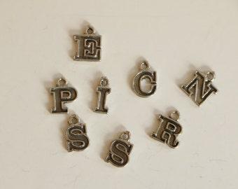 SALE!!  Vintage Sterling Silver Letter Pendant Charm
