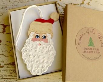 Danish Julemand Santa Ornament Handcrafted Painted Christmas Tree Decoration Christmas Ornament