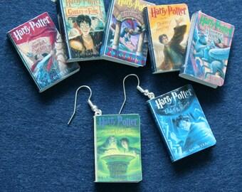 Mini Harry Potter inspired books earrings