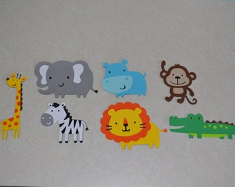 Jungle Animal Favor Clips Bag, Basket or Box - Birthday Party - Set of 12