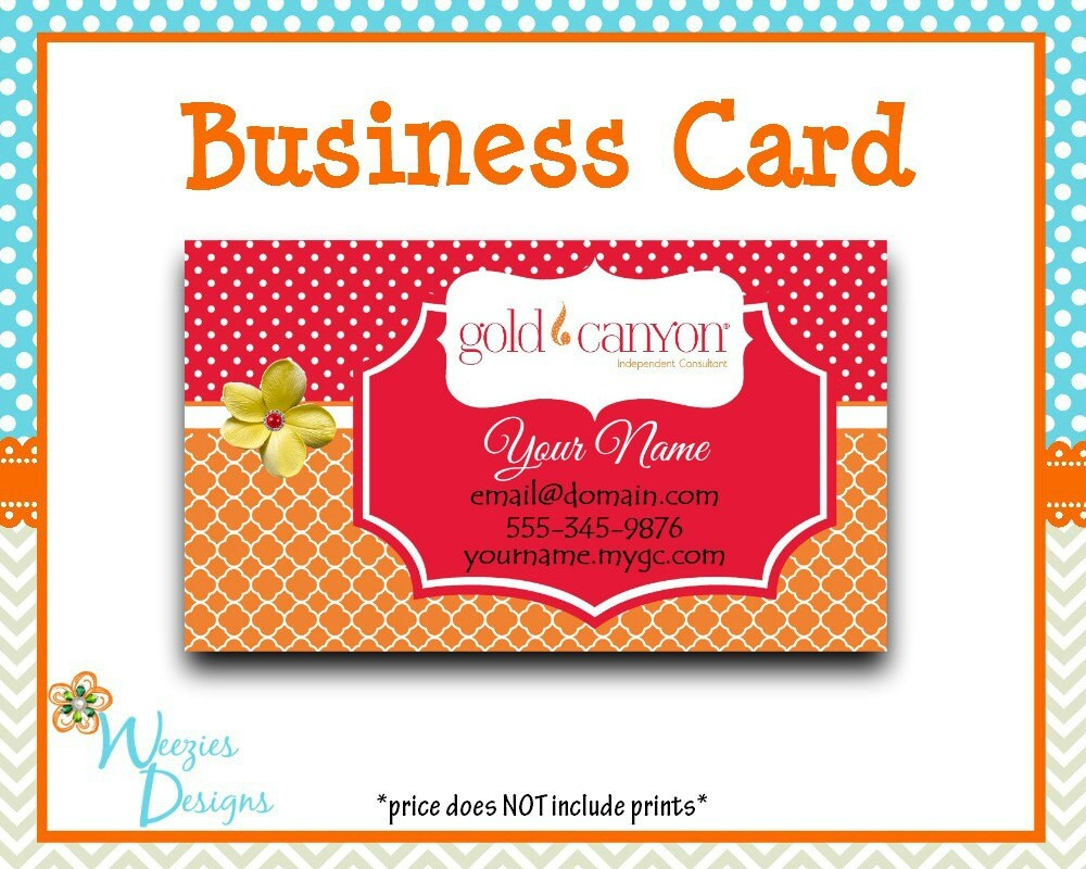 Gold canyon business card direct sales marketing independant for Order custom business cards