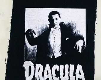 DRACULA patch goth horror punk classic  monsters bela lugosi vampire Free Shipping